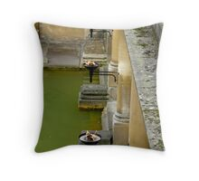 Bathing by torchlight Throw Pillow