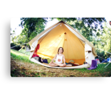 Meditation in the tent Canvas Print