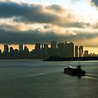 New York Harbor at Sunrise by gzupruk