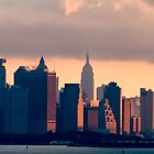 New York Sunrise Skyline by gzupruk