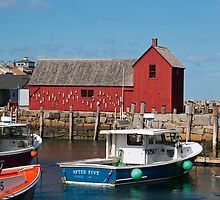 New England Harbor by Monica M. Scanlan