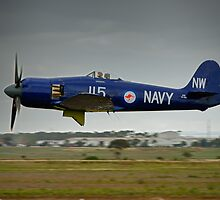 Hawker Sea Fury in flight by ToyShoots