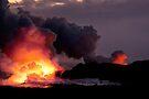 Lava Flow at Kalapana 13 by Alex Preiss