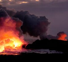 Lava Flow at Kalapana 13 by Alex Preiss