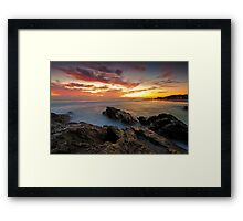 Dawn at the Rocks Framed Print