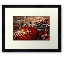 Fireman - Mastic chemical co Framed Print