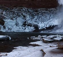 Catskills waterfalls upstate NY in winter time 2 by Anton Oparin