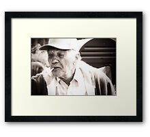The Lines On My Face Tell A Story Framed Print