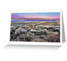 Pyramid Lake at Sundown #5 Greeting Card
