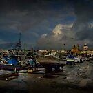 M'Xlokk-Scape, Malta (Early Wet Morning) by Edwin  Catania