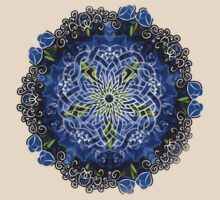 Blue Delphinium Celtic Flower Circle by bloomingvine