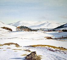 Winter in Glenshee, Scotland by Joyce Grubb