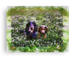 Charlie and Chester. Canvas Print