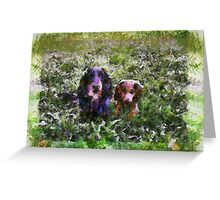 Charlie and Chester. Greeting Card