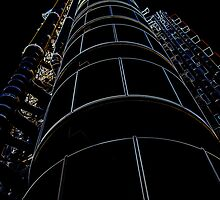 Lloyds Building London Glowing Edges by DavidHornchurch