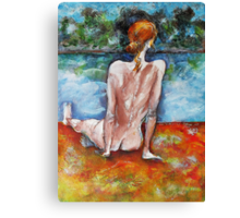 Almost Alone At The Beach Canvas Print