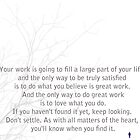 Love What you do - Steve Jobs by Trilbycole