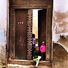 Three African kids Zanzibar by Amyn Nasser