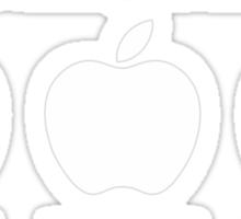 3 Apples Changed The World - Tribute - Steven/Steve Jobs R.I.P Sticker