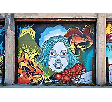 The Girl in the Mural Photographic Print
