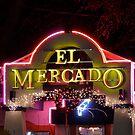 El Mercado - Night Signs Series - S. Austin, Texas by Jack McCabe