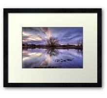 VioJet Sunset Framed Print