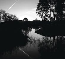 Sandy Creek lagoon at Dusk, North East Victoria by Jenny Enever