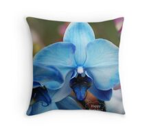 Happy Birthday Greeting Card 7053 Throw Pillow