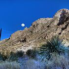Moonrise Over the Franklin Mountains by Ray Chiarello