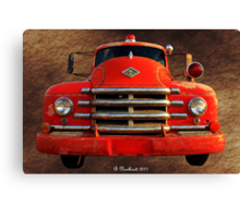 1955 Diamond T Grille - The Cadillac Of Trucks Canvas Print