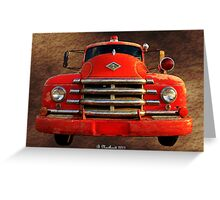 1955 Diamond T Grille - The Cadillac Of Trucks Greeting Card