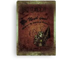 """We need you"" WORN Bioshock poster Canvas Print"