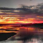 Sunrise over Arkansas River by bannercgtl10