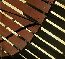 Park Bench Abstract by Jane Underwood