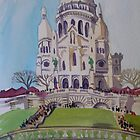 Winter in Paris - Basilique du Sacré-Cœur by Paulina Kazarinov