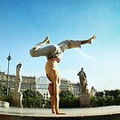 Handstand in Barcelona by Wari Om  Yoga Photography