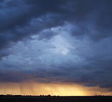 Rainstorm at Sunset, 14th May 2007 near Yorketown, South Australia  by Craig Watson