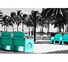 A Touch of Teal in Miami Photographic Print