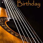 Guitar Birthday Card by JEZ22