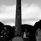 St Kevins Tower Glendalough County Wicklow Ireland by tunna