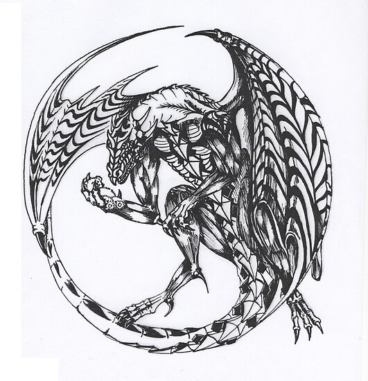 dragon tattoo ink design  by Draconis130
