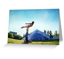 Acroyoga Fly Greeting Card