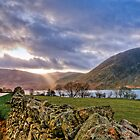 Buttemere and Crummock water after storm by Peterwlsn