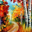 WHITE BIRCHES - LEONID AFREMOV by Leonid  Afremov