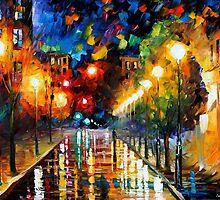 NIGHT BOULEVARD - LEONID AFREMOV by Leonid  Afremov