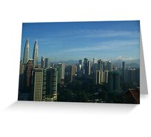 Towering Over The Skyline Greeting Card