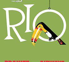 Braniff Airways Rio 1 by Jeff Vorzimmer