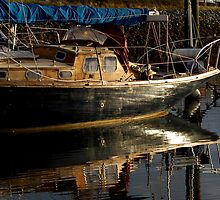 Old Wooden Classic Yacht by greatoutdoors