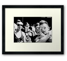 Never 'check' your nose in public! Framed Print