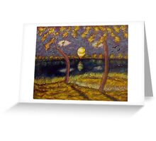 We Look at the Landscape but Landscape Look at Us Too Greeting Card